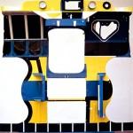 Antisculpture 6, 190 x 180 x 75 cm, 1972-1973