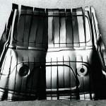 Travaux sur face avant estafette, projet pour une exposition (metal)