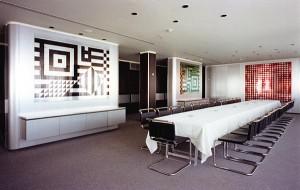 Panneaux en aluminium anodise, 1974